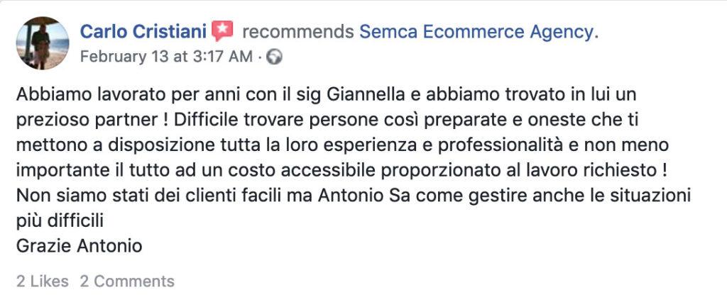 recensione clienti